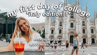 first day of college vlog!! *italy edition*