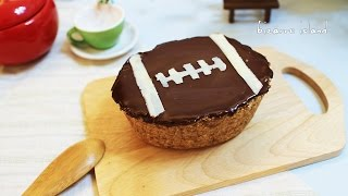 Father's Day No Bake Football Nutella Cheesecake   Bizarre Island