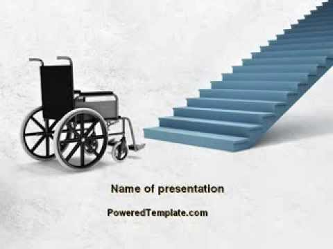 Wheel chair powerpoint template by poweredtemplate youtube toneelgroepblik Image collections
