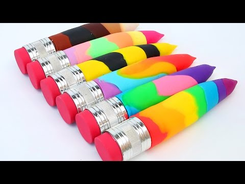 Thumbnail: DIY Super Colors Play Doh Pencils Modellling Clay Play Doh Ice Cream Popsicles Umbrella Learn Color