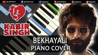 Bekhayali Song Kabir Singh | Piano Cover Chords Instrumental By Ganesh Kini