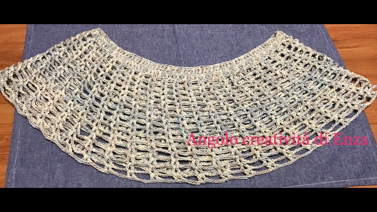 Mantellacoprispalle Facile Alluncinettoeasy Crocheted Capefácil