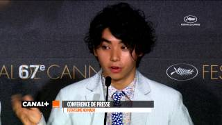 Nijiro Murakami shows his emotion to be at Cannes.