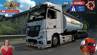 "Euro Truck Simulator 2 (1.38 Beta)   Mercedes Benz New Actros 2019 by Actros 5 Crew by Harald-RS & Wolli2017 First Look and Delivery Road to Strasbourg DLC Vive la France Germany Revisiting Menci Cistern Trailer by MdModder Motorcycle Traffic Pack by Jazzycat FMOD ON and Open Windows Naturalux Graphics and Weather Test Gameplay ITA Europe Reskin v1.0 by Mirfi + DLC's & Mods Version 1.0 - 2 Cabins + Edition1 - 14 chassis variants - 7 engines - 8 transmission - 4 interior variants - many tuning options - Truck in AI - Quick Jobs https://forum.scssoft.com/viewtopic.php?f=35&t=287117  SCS Software News Iberian Peninsula Spain and Portugal Map DLC Planner...2020 https://www.youtube.com/watch?v=NtKeP0c8W5s Euro Truck Simulator 2 Iveco S-Way 2020 https://www.youtube.com/watch?v=980Xdbz-cms&t=56s  #TruckAtHome #covid19italia Euro Truck Simulator 2    Road to the Black Sea (DLC)    Beyond the Baltic Sea (DLC)   Vive la France (DLC)    Scandinavia (DLC)    Bella Italia (DLC)   Special Transport (DLC)   Cargo Bundle (DLC)   Vive la France (DLC)    Bella Italia (DLC)    Baltic Sea (DLC)   American Truck Simulator New Mexico (DLC) Oregon (DLC) Washington (DLC) Utah (DLC)     I love you my friends Sexy truck driver test and gameplay ITA  Support me please thanks Support me economically at the mail vanelli.isabella@gmail.com  Roadhunter Trailers Heavy Cargo  http://roadhunter-z3d.de.tl/ SCS Software Merchandise E-Shop https://eshop.scssoft.com/  Euro Truck Simulator 2 http://store.steampowered.com/app/227... SCS software blog  http://blog.scssoft.com/  Specifiche hardware del mio PC: Intel I5 6600k 3,5ghz Dissipatore Cooler Master RR-TX3E  32GB DDR4 Memoria Kingston hyperX Fury MSI GeForce GTX 1660 ARMOR OC 6GB GDDR5 Asus Maximus VIII Ranger Gaming Cooler master Gx750 SanDisk SSD PLUS 240GB  HDD WD Blue 3.5"" 64mb SATA III 1TB Corsair Mid Tower Atx Carbide Spec-03 Xbox 360 Controller Windows 10 pro 64bit"