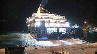 nautilia.gr - Η πρώτη άφιξη του ΕΓ/ΟΓ Blue Star Delos στη Σαντορίνη