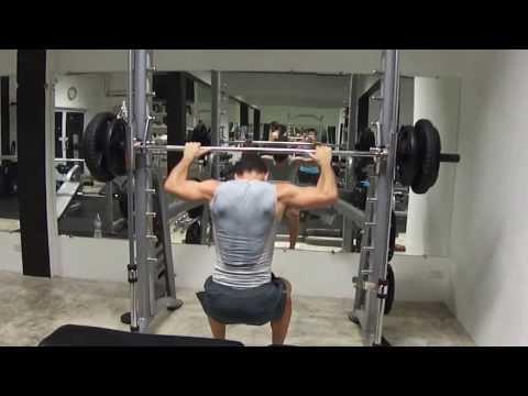 David Costa - Fitness Model - Guide squat @ Gym & Fitness Koh Tao (Thailande)