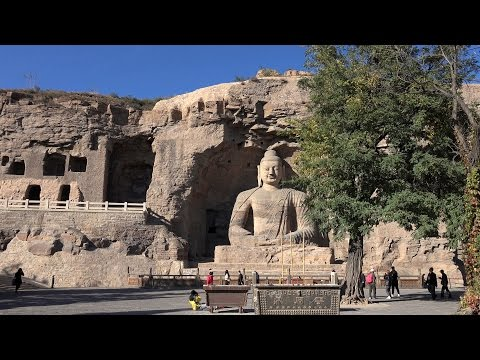 Yungang Grottoes, Shanxi, China in 4K (Ultra HD)