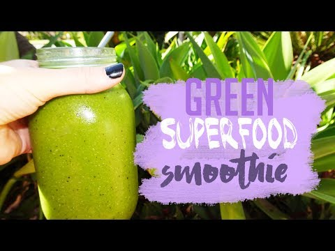GREEN SUPERFOOD SMOOTHIE | TROPICAL FLAVOURED!
