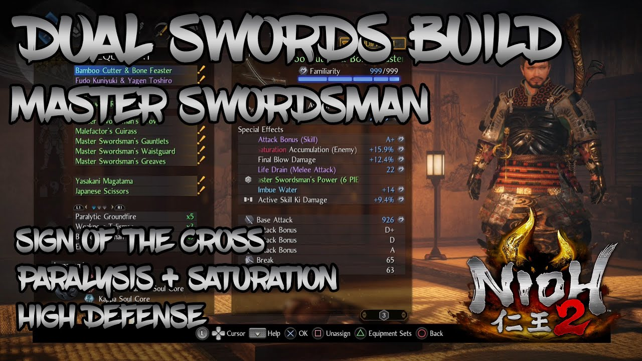 Nioh 2 - Dual Swords Build - Big Damage, Bigger Defense