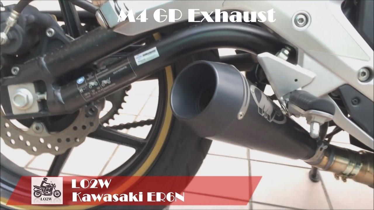 top 7 full exhaust sound kawasaki er6n akrapovic ixil hyperlow m4 gp termignoni