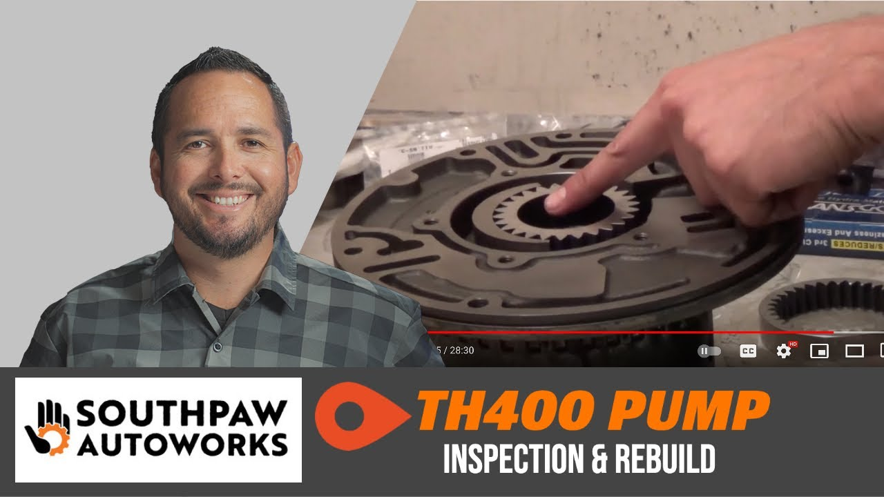How To Rebuild Automatic Transmission >> TH400 Rebuild: Pump - YouTube