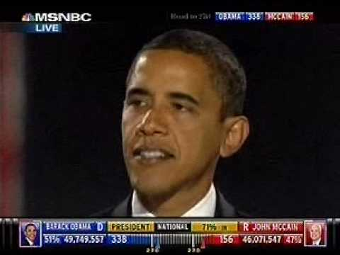 Barack Obama Victory Speech: Yes We Can