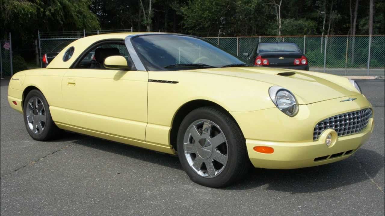 2002 ford thunderbird convertible for sale only 5 969 miles sold youtube. Black Bedroom Furniture Sets. Home Design Ideas