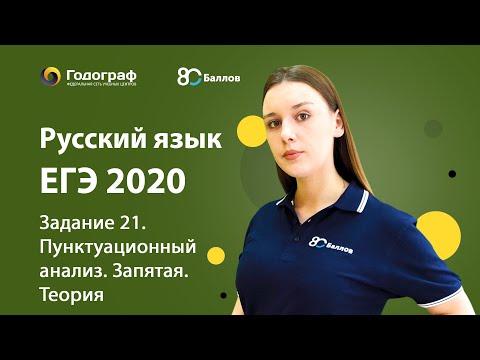 ЕГЭ по Русскому языку 2020. Задание 21. Пунктуационный анализ. Запятая. Теория