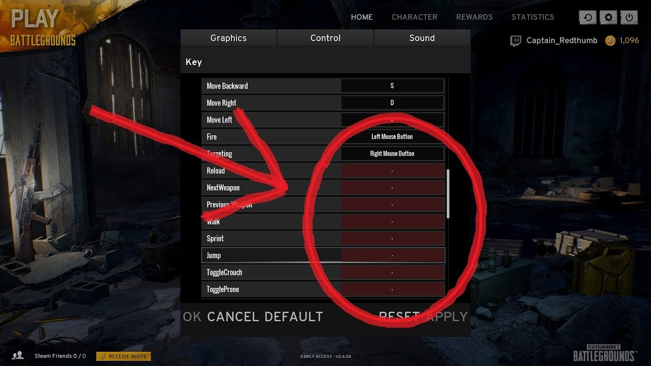 PUBG Control Settings Fix