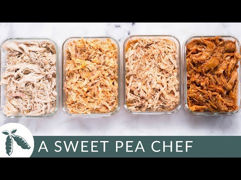 Slow Cooker Shredded Chicken Meal Prep | How To Meal Prep | A Sweet Pea Chef