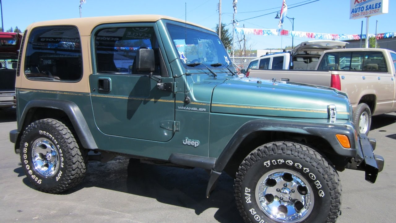 1999 jeep wrangler 4x4 hard top sold youtube. Black Bedroom Furniture Sets. Home Design Ideas