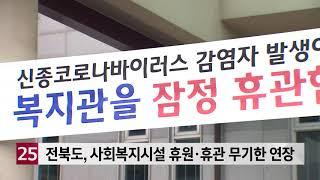 전북도, 사회복지시설 휴원·휴관 무기한 연장