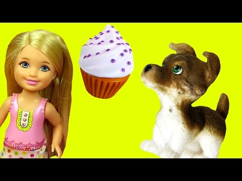 Thumbnail: Bad Puppy ! SWEET Treats Bakery ! Barbie and her sisters enjoy Cookies and other Sweets