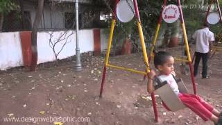 Kavil Playing In Playground Kids Garden Swing At Amul Garden Park In Vastrapur Ahmedabad