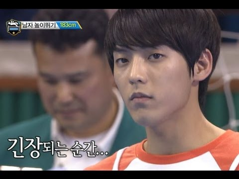 【TVPP】Minhyuk(BTOB) - M High Jump + New Record, 민혁(비투비) - 높이뛰기 금메달 @ 2014 Idol Star Championships