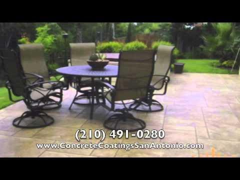 Stamped Concrete San Antonio TX Concrete Overlays San Antonio.mov