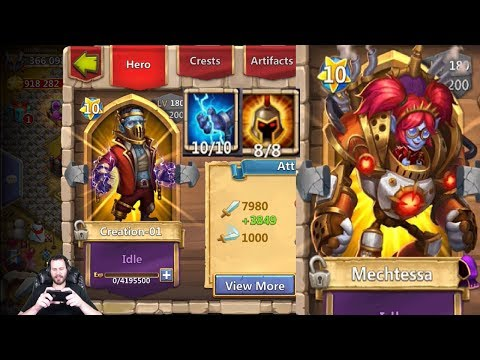 Double Evolving Mectessa + Creation01 LUCKY Roll WOW Castle Clash