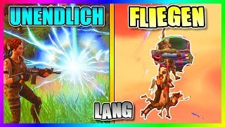 HOW TO FLOAT IN THE AIR INFINITELY LONG | Fortnite Battle Royale Glitch | German
