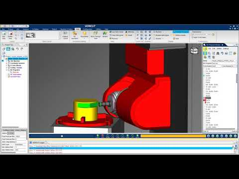 VERICUT CNC Simulation of a Mazak Integrex