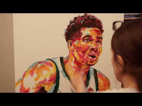 Painting Giannis Antetokounmpo