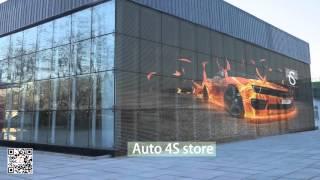 Auroled Transparent led screen display glass led display