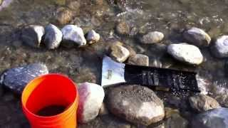 Finding Gold Nuggets With A Sluice Box Near Phoenix Arizona