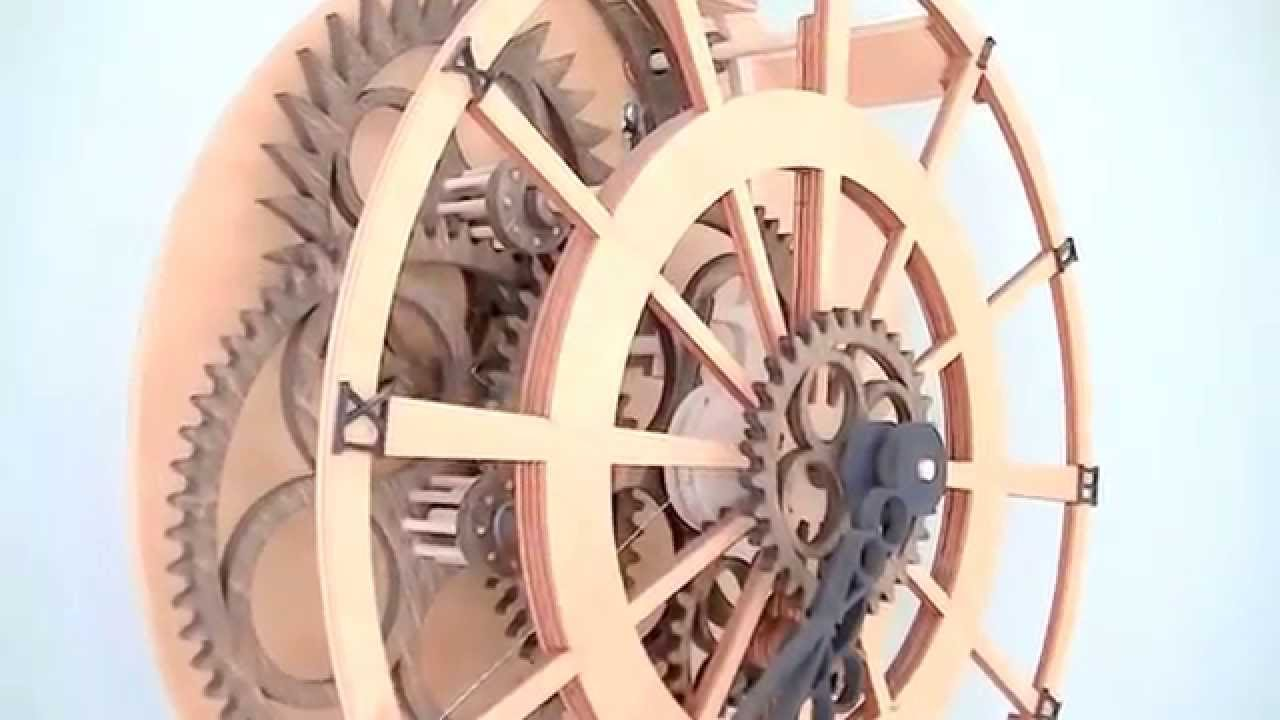 Legacy Wooden Gear Clock