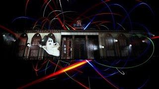 Световое шоу в Киеве на Почтовой. Kyiv Lights Festival.