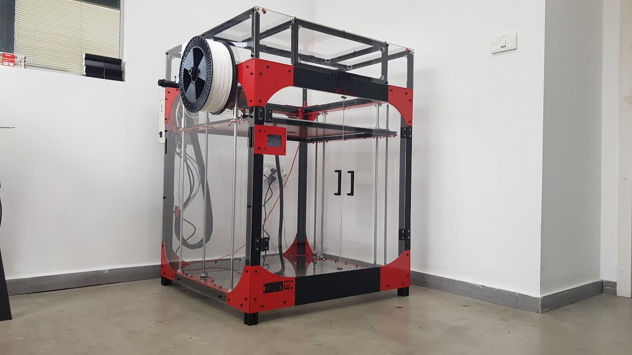 D Printing Exhibition Usa : Large d printer kit assembly modix big youtube