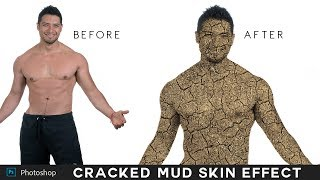 Download Video Photoshop Tutorial : Change Person Skin into Cracked Mud Effect - Turn into Fire or Stone Texture] MP3 3GP MP4