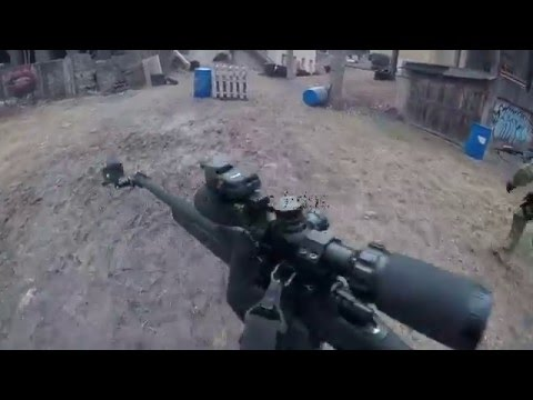 Airsoft Sniper Gameplay Headshot on Scopecam @ Urban Area