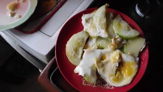 Готовлю кабачки с яйцом и чесноком# бюджетный вариант# 2017