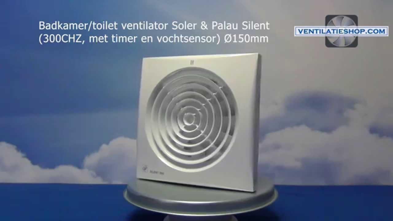 badkamer/toilet ventilator, soler & palau silent (300chz) Ø150mm, Badkamer