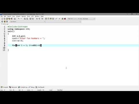 Lecture# 37 Find Greatest Common Divisor(GCD) using loop | C++ Programming Tutorials in Urdu thumbnail