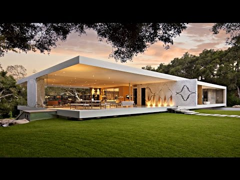 Impressive Modernist Glass-Walled Luxury Residence In Montecito, CA, USA (by Steve Hermann)