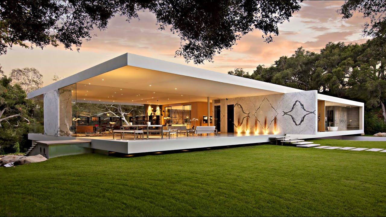 Impressive Modernist Glass Walled Luxury Residence In Montecito Ca Usa By Steve Hermann Youtube