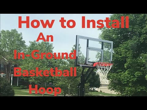 How To Install An In-Ground Basketball Hoop!
