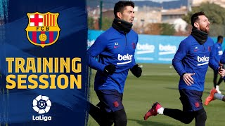 Messi & Suárez return to training