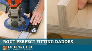 Rout Perfect Fitting Dadoes with this Jig