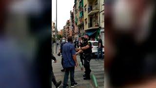 Pelea multitudinaria en Badalona se salda con dos detenidos