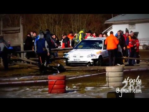 Dobšinská zima 2016 RALLY vletel do divákou!- crash-Richard Žaloudek Matúš Lejko-Honda Civic Vti CEZ