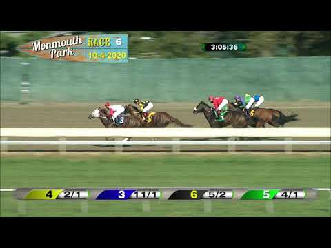 video thumbnail for MONMOUTH PARK 10-04-20 RACE 6