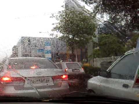 Mashhad, Iran Streets on a rainy day in Sajjad Shahr near Homa Hotel 2