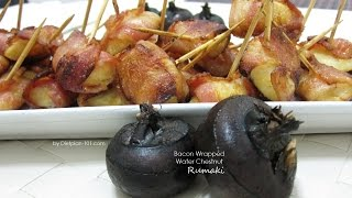 Bacon Wrapped Water Chestnut (rumaki) | Dietplan-101.com